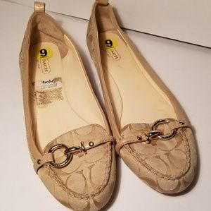 Coach slip on penny loafer ballet flats size 9